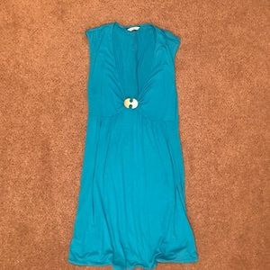 EUC Trina Turk teal dress